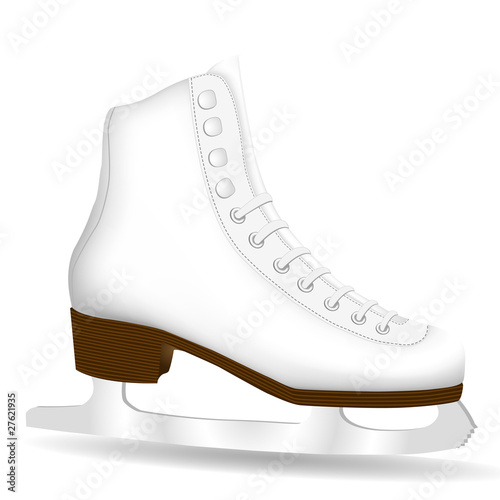 Isolated White Skate on a White Background