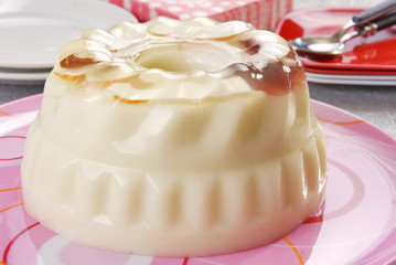 Postre de gelatina de manzana