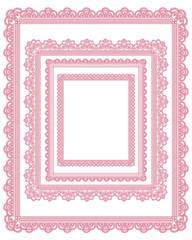 square lace frame set 2