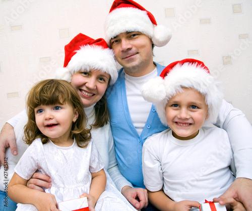 Christmas Happy family