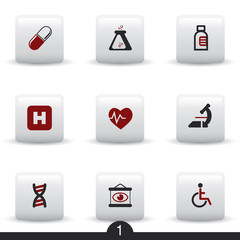 Medical web icons from series..no.1