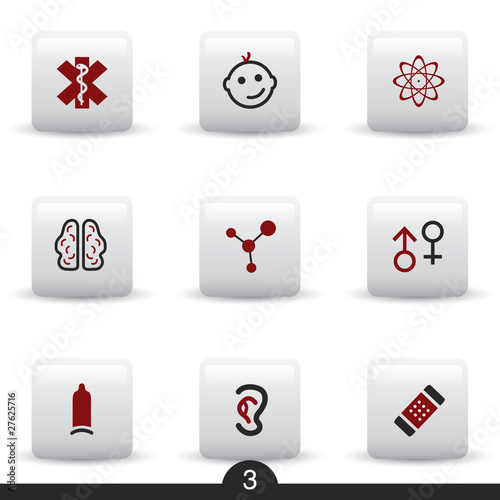Medical web icons from series..no.3