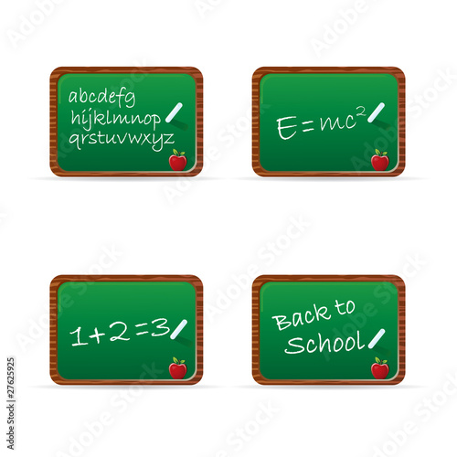 School chalkboard set