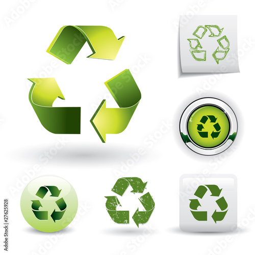 Recycling symbol set