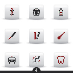 Medical web icons from series..no.4