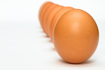 Row of eggs