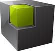 Black cube.