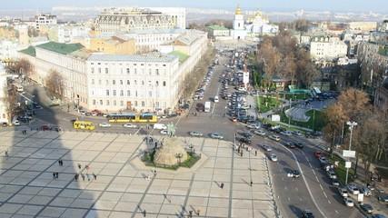 Statue of Bogdan Khmel'nitsky on Sofia square, Kiev.