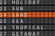 Departure Style Information Board - SAND