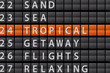 Departure Style Information Board - TROPICAL