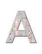 A - Alphabet strass et paillettes