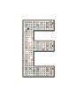 E - Alphabet strass et paillettes