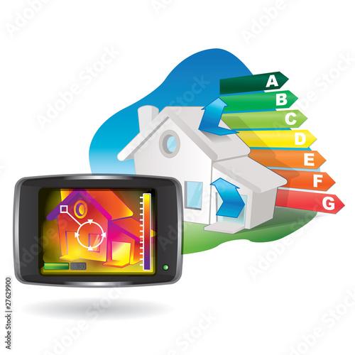 camera thermique pour bilan énergétique des habitattions - 27629900