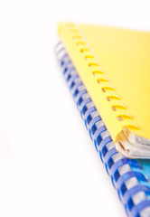 Stacks of Document Folders on White Background