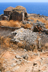 View of old church, Monemvasia