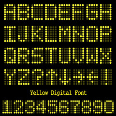 Yellow Digital Font