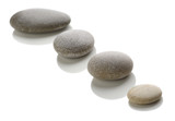 Stones on a white background.