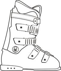 The ski sports boot contour.