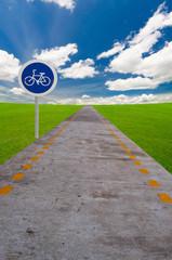 bicycle lane sign board