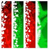 Christmas greenery banners poster