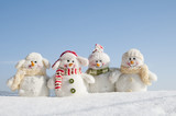Happy snowman team