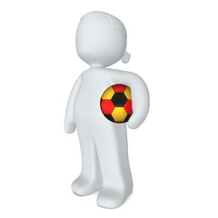 3d-mädchen mit fußball deutschland