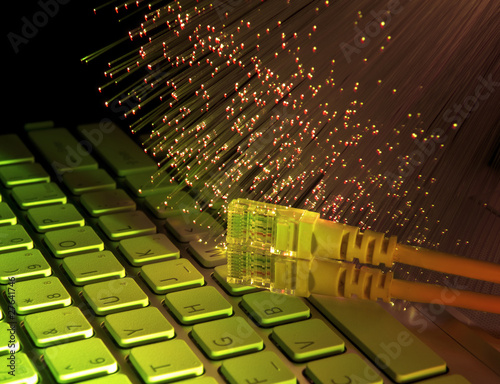 Fiber optics background