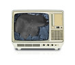 broken old television