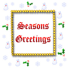 seasons greetings frame