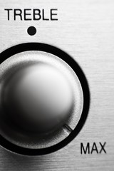 Treble knob on hifi amplifier