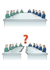 Verhandlung und Konflikt