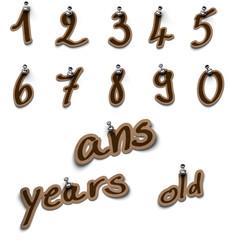 anniversary, anniversaire, birthday - âge date nombre