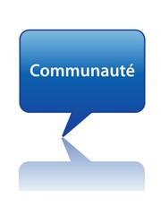 Icône Bulle COMMUNAUTE (forum groupe communauté partager bouton)