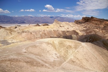Deserted trail on Zabriskie Point, Death Valley National Park