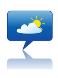 WEATHER Speech Bubble Icon (forecast meteorological news button) poster