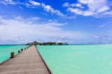 Walkway over tropical sea