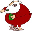Santa Taking Cough Syrup