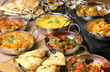 canvas print picture - Indian Food Selection
