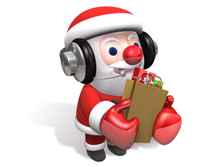 funny gift shopping of 3d santa claus