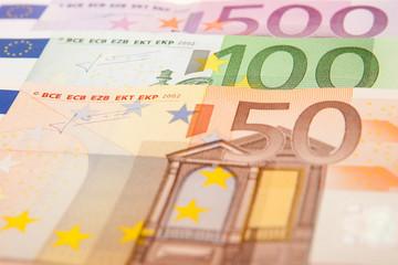 Euroscheine Nahaufnahme