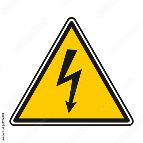 Panneau Signalisation Jaune Danger Sécurité