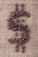 coffee bean money