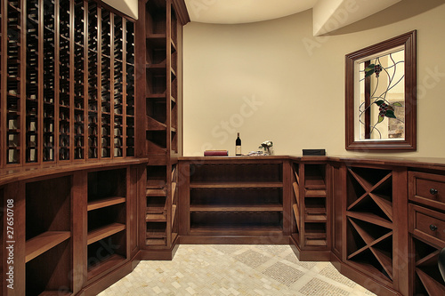Wine cellar in luxury home