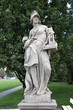 History - allegory statue in Saxon Park, Warsaw, Poland