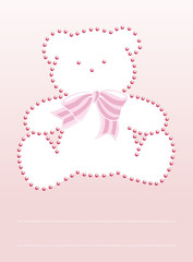 Bear with diamond invitation card
