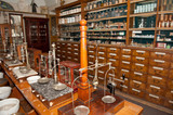 Interior of an ancient drugstore