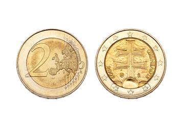 2 Euro Slowakei inklusive Beschneidungspfad