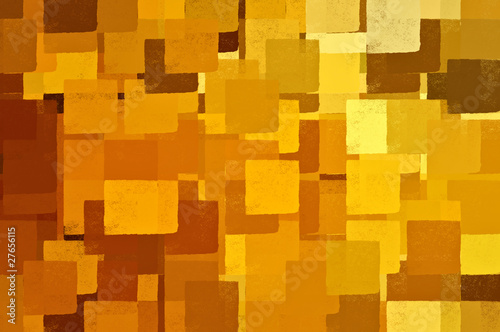 Square shapes brown and yellow. Abstract illustration.