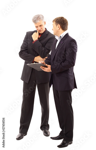 Two businessmen discussing - Isolated studio picture