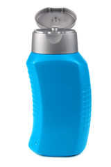 blue bottle for by shampoo